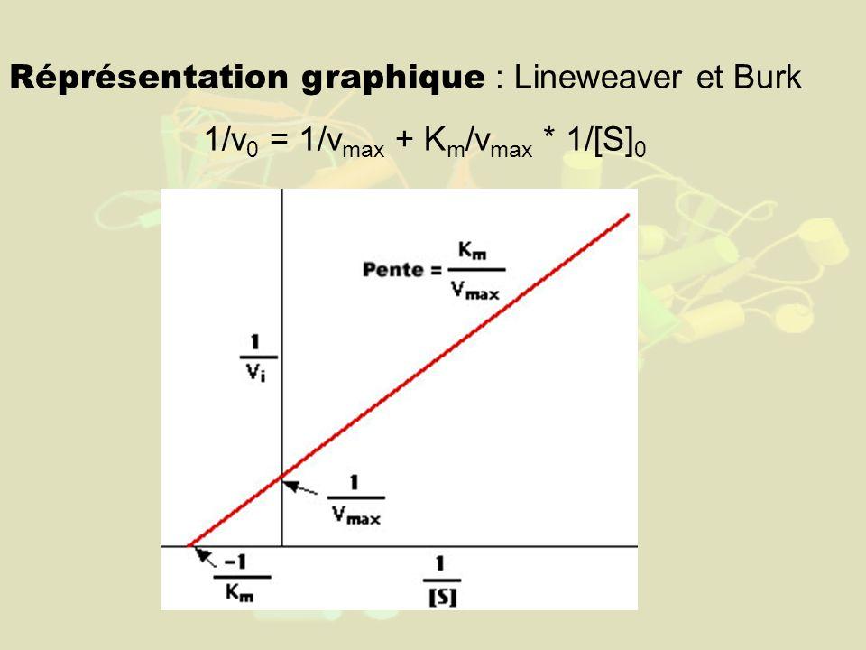 1/v0 = 1/vmax + Km/vmax * 1/[S]0